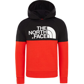 The North Face Drew Peak Raglan Midlayer Kinderen rood/zwart